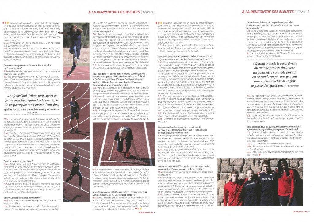 extrait athletisme magazine N- 567 - Decembre 2016 - Janvier 2017-3